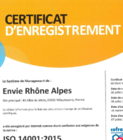 Certification Iso140001 ERA